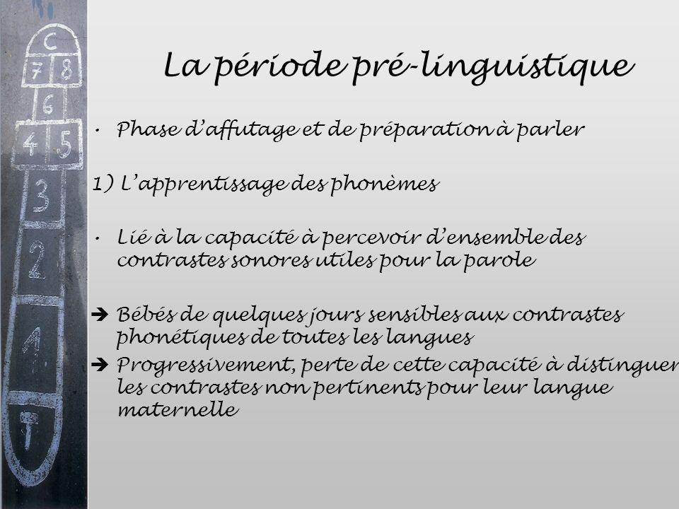 La période pré-linguistique