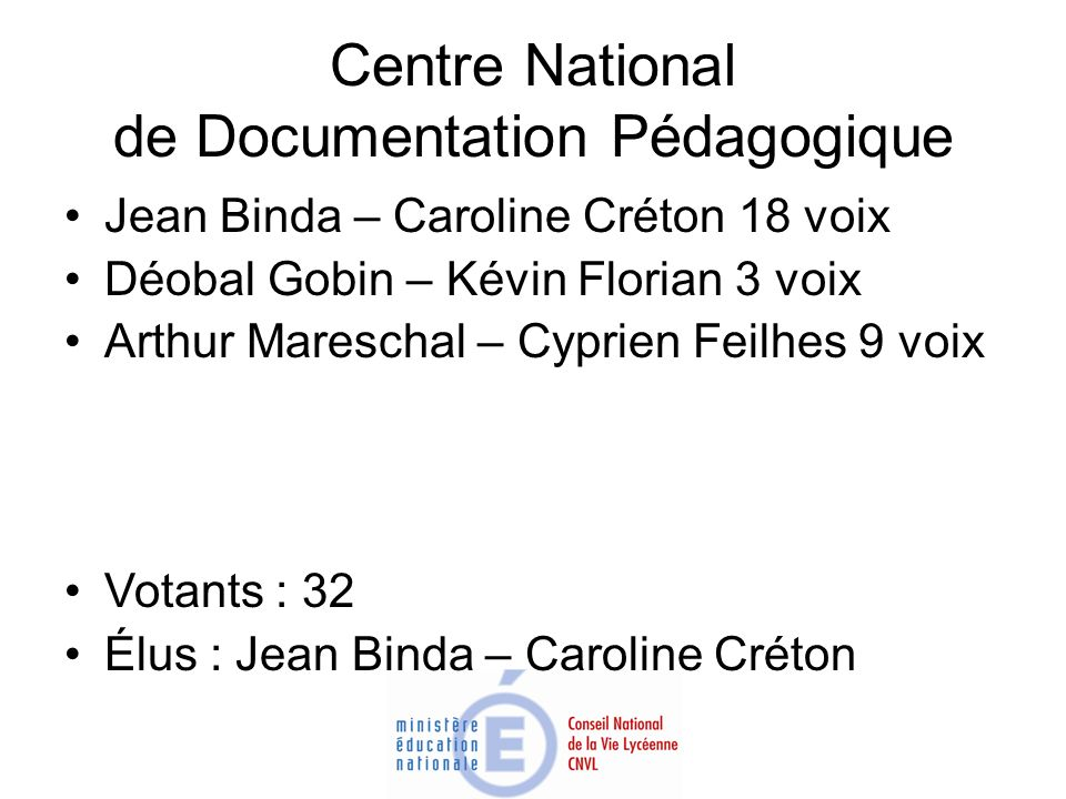 Centre National de Documentation Pédagogique