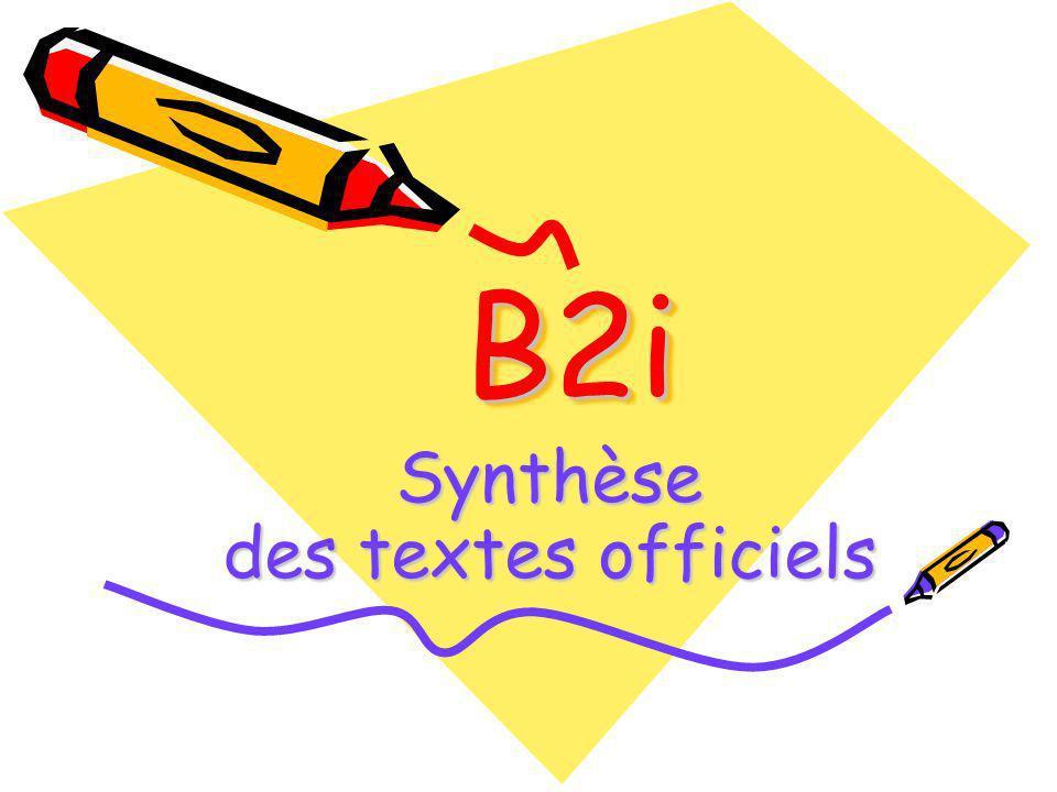 Synthèse des textes officiels