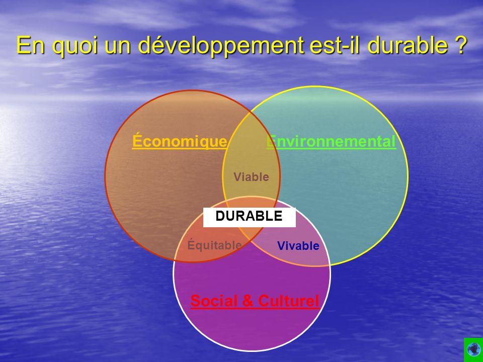 En quoi un développement est-il durable