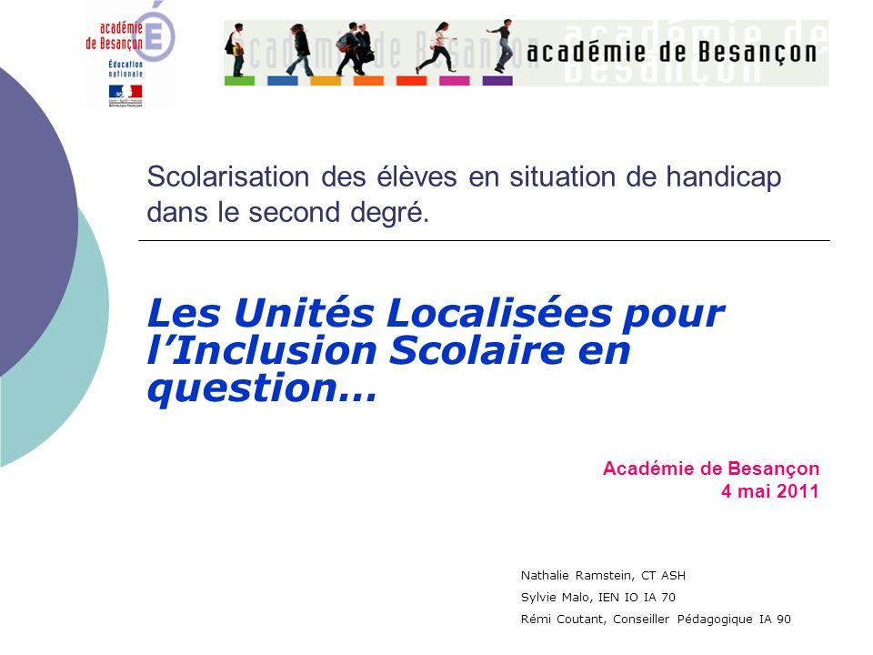 Les Unités Localisées pour l'Inclusion Scolaire en question…