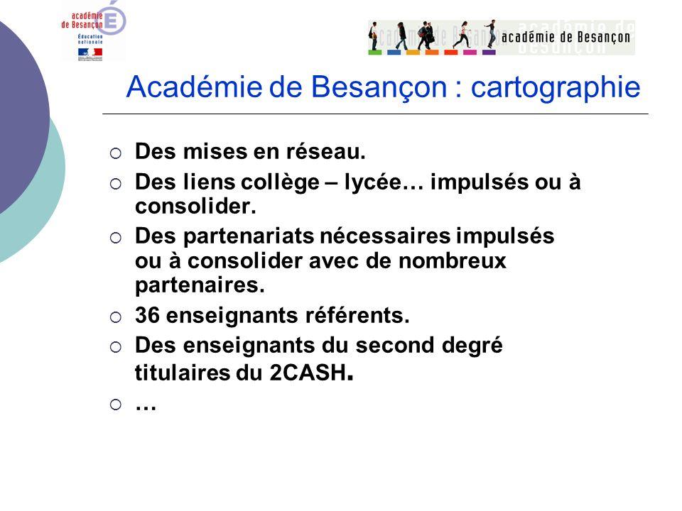 Académie de Besançon : cartographie