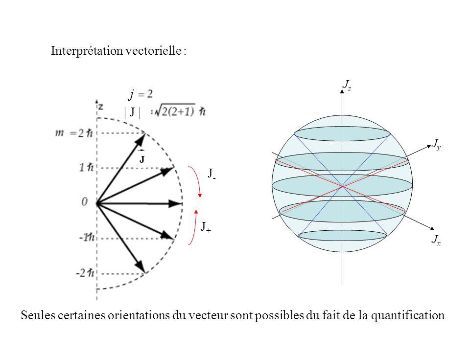 Interprétation vectorielle :