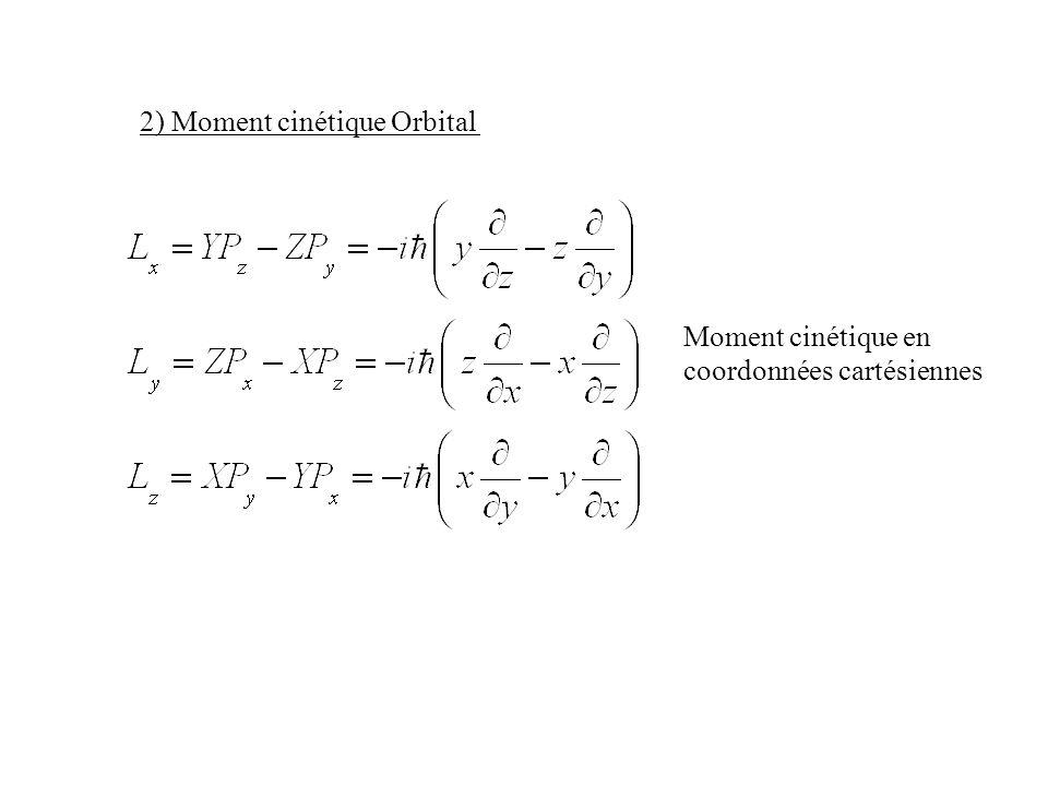 2) Moment cinétique Orbital