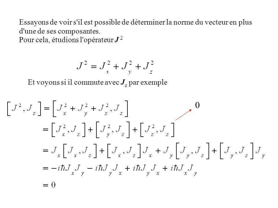 Essayons de voir s il est possible de déterminer la norme du vecteur en plus d une de ses composantes.