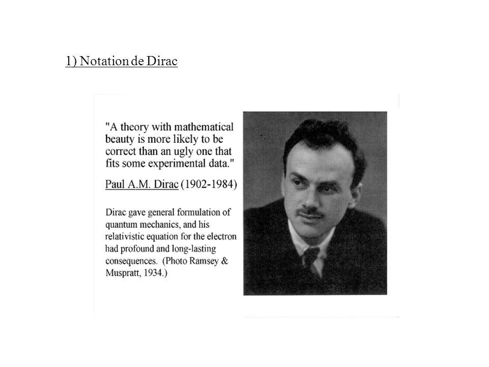 1) Notation de Dirac