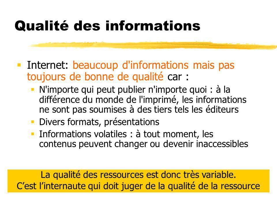 Qualité des informations