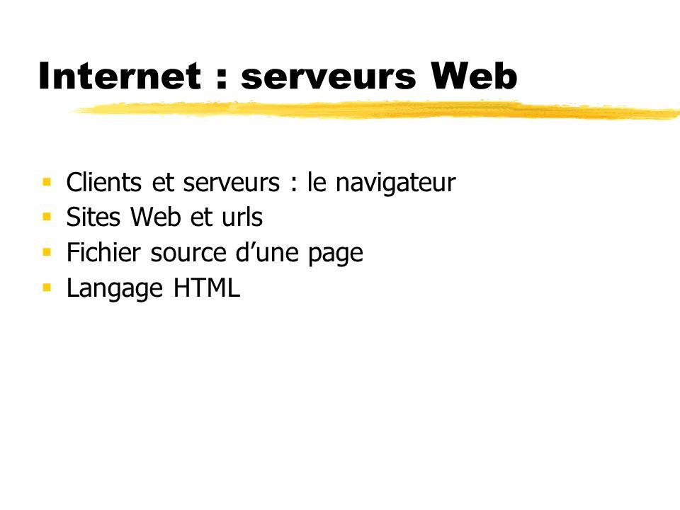 Internet : serveurs Web