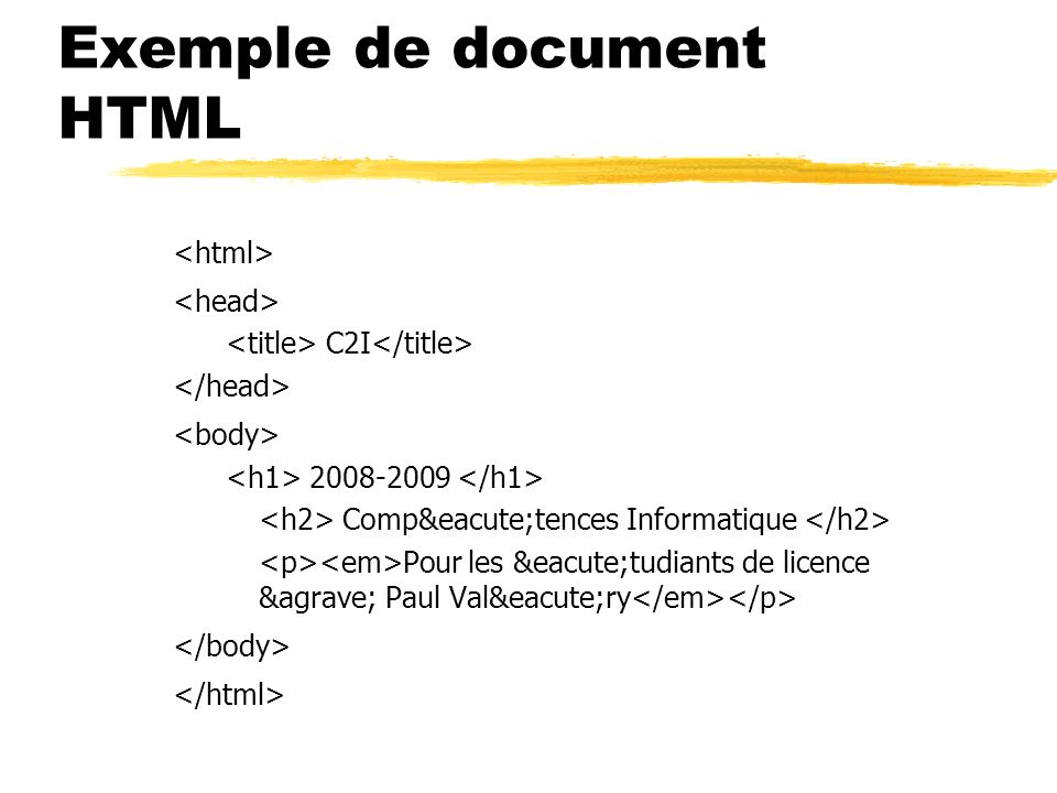 Exemple de document HTML