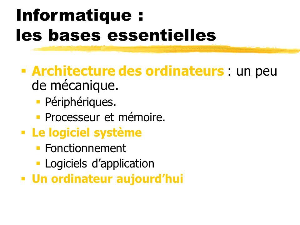 Informatique : les bases essentielles