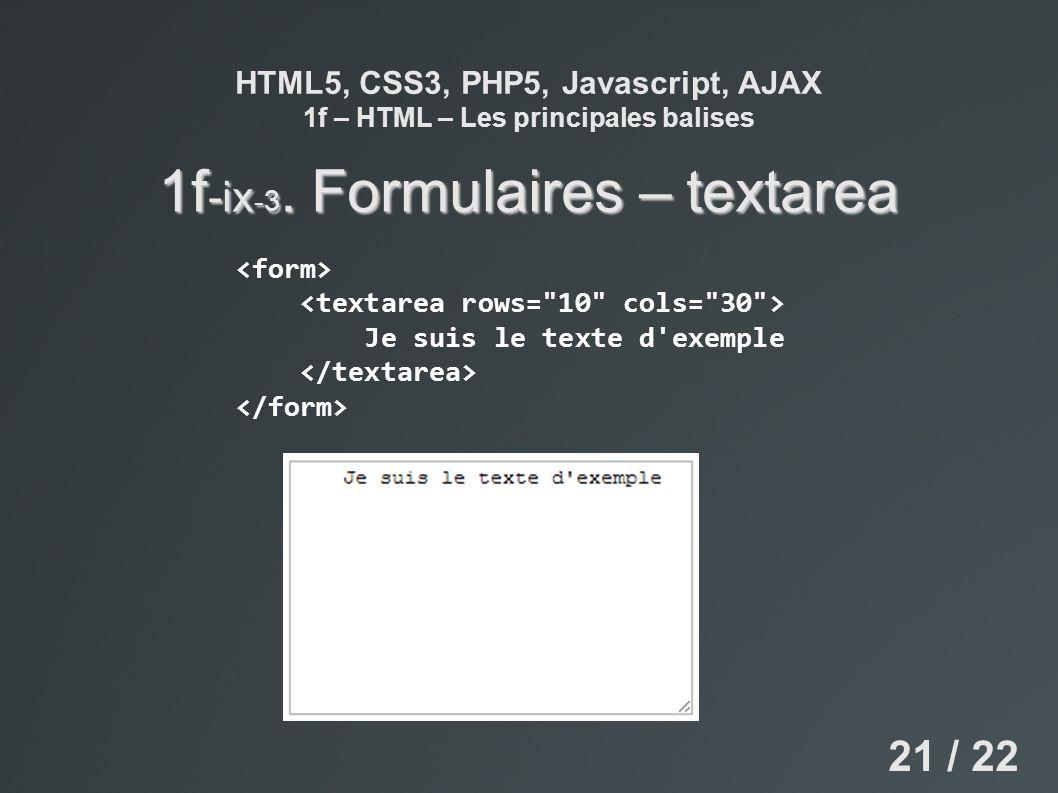 1f-ix-3. Formulaires – textarea