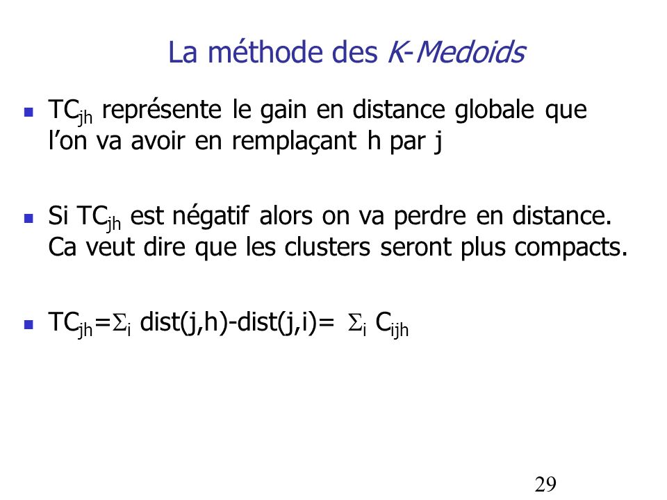 La méthode des K-Medoids