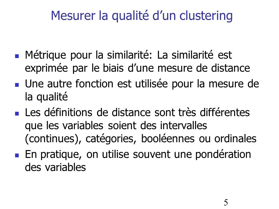 Mesurer la qualité d'un clustering