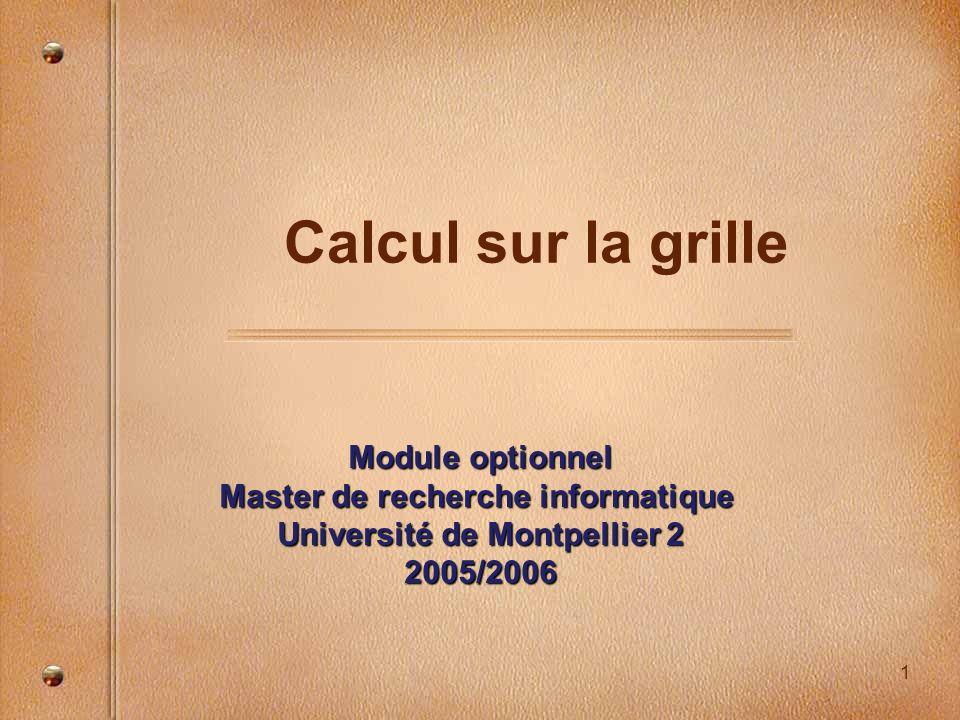Master de recherche informatique Université de Montpellier 2