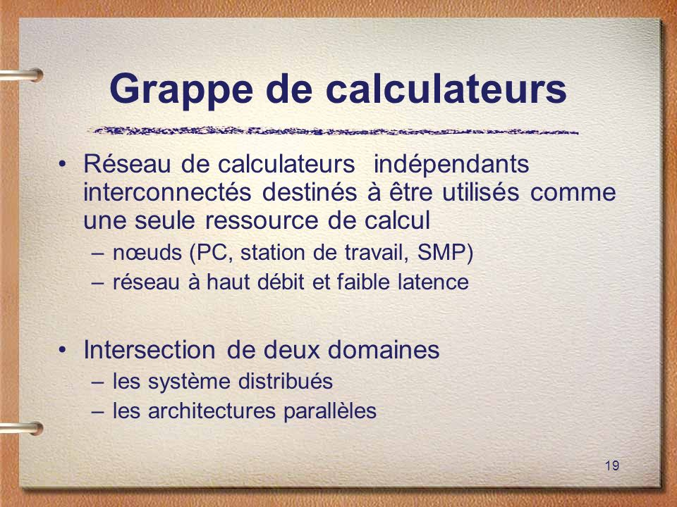 Grappe de calculateurs