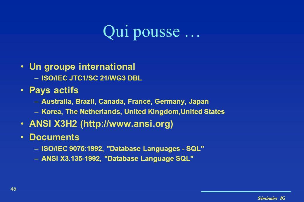 Qui pousse … Un groupe international Pays actifs