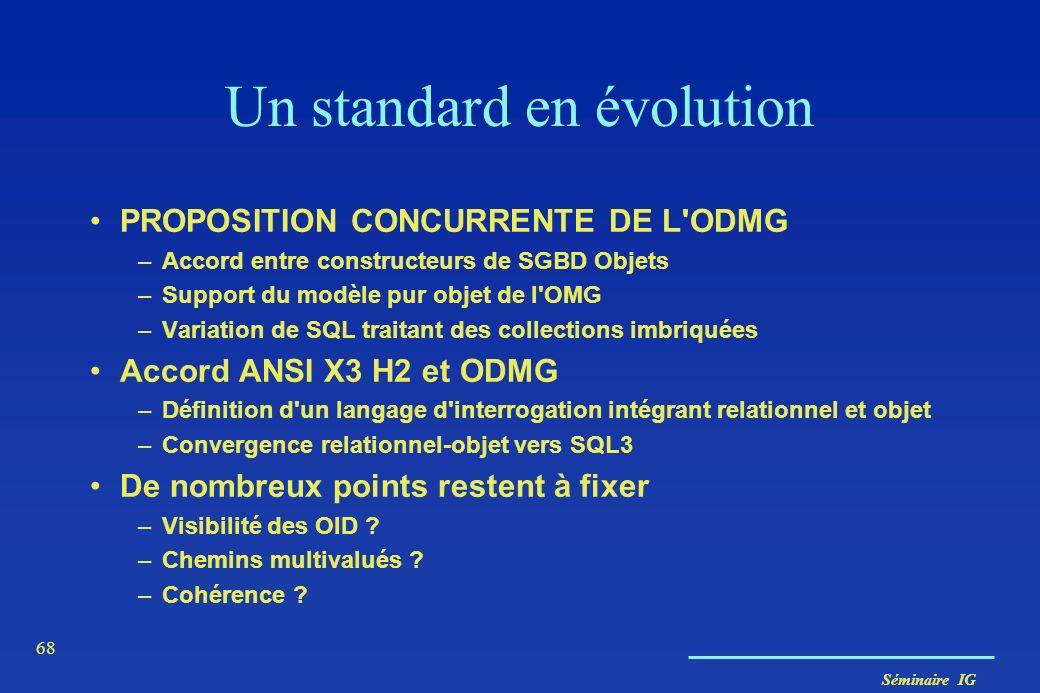 Un standard en évolution