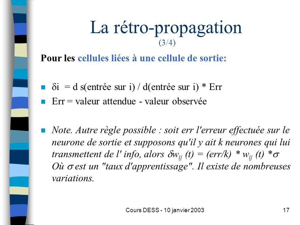 La rétro-propagation (3/4)
