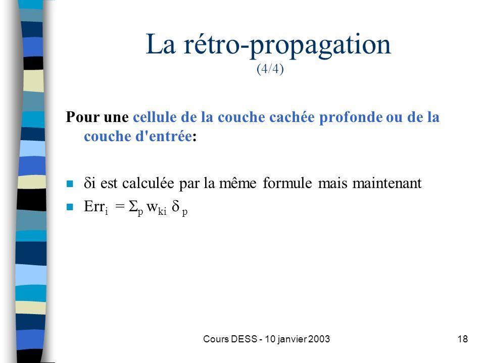 La rétro-propagation (4/4)