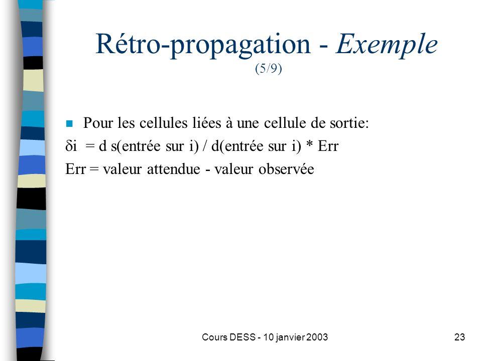 Rétro-propagation - Exemple (5/9)