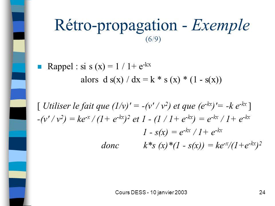 Rétro-propagation - Exemple (6/9)