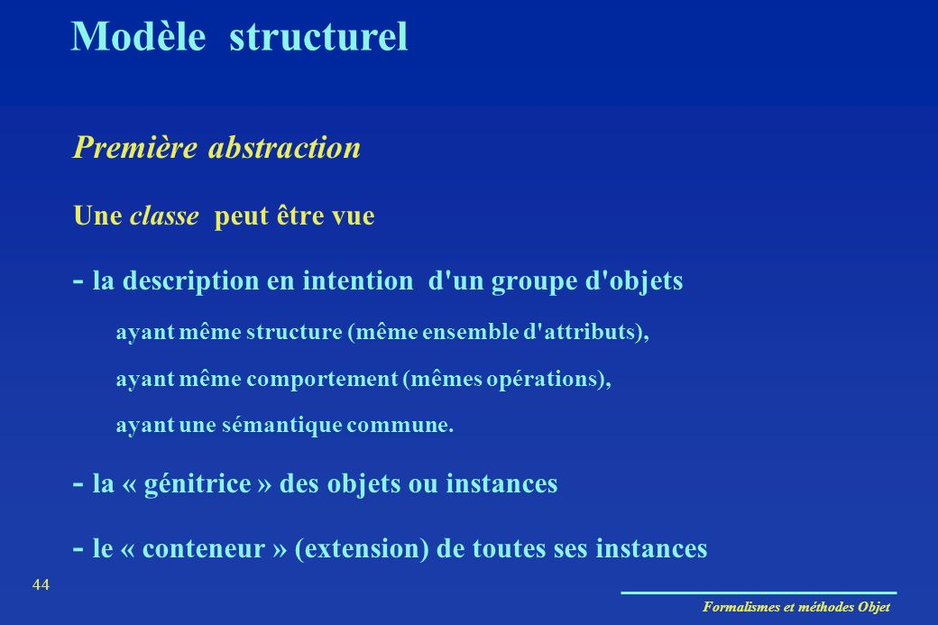 Modèle structurel Première abstraction
