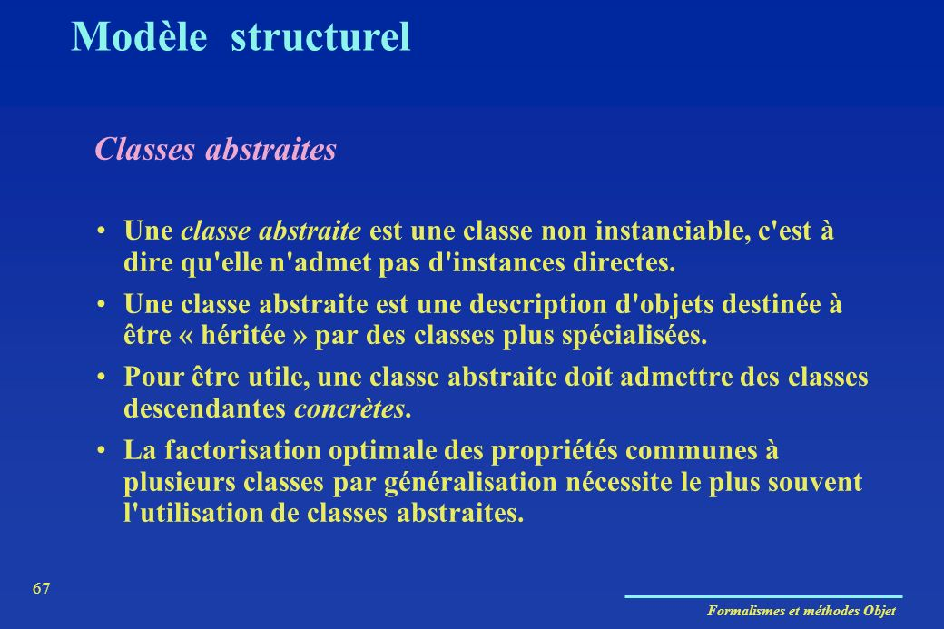 Modèle structurel Classes abstraites