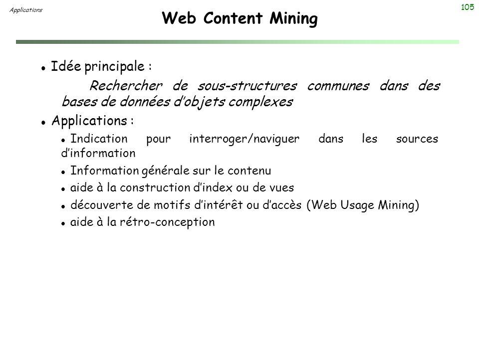 Web Content Mining Idée principale :