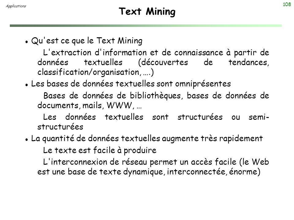 Text Mining Qu est ce que le Text Mining