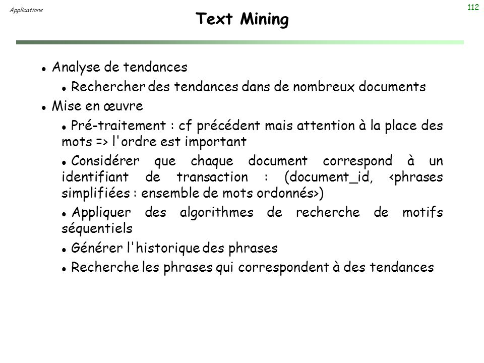 Text Mining Analyse de tendances