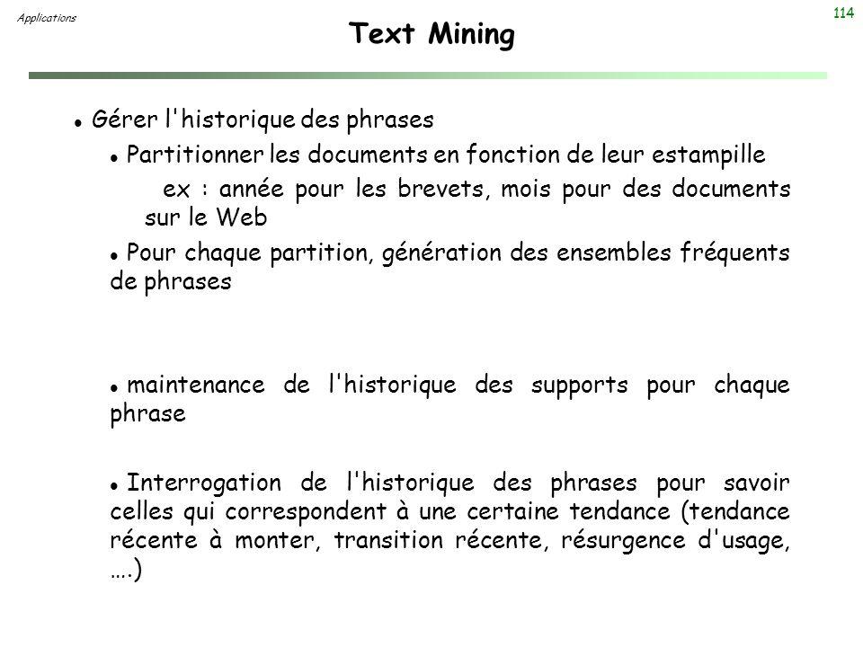 Text Mining Gérer l historique des phrases