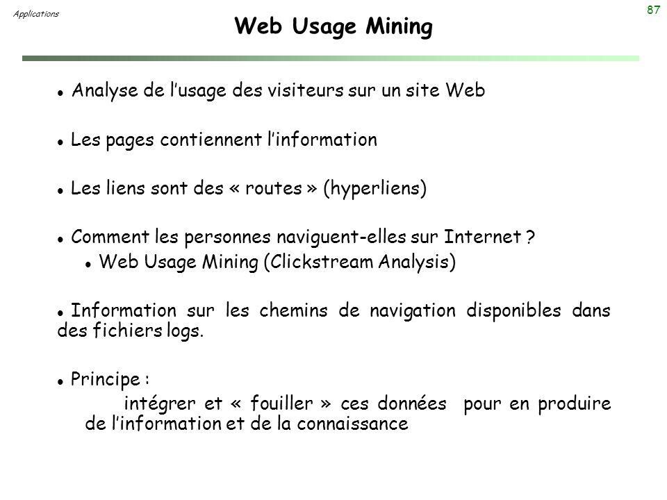 Web Usage Mining Analyse de l'usage des visiteurs sur un site Web