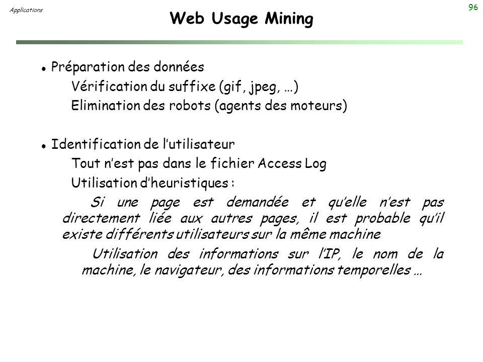 Web Usage Mining Préparation des données
