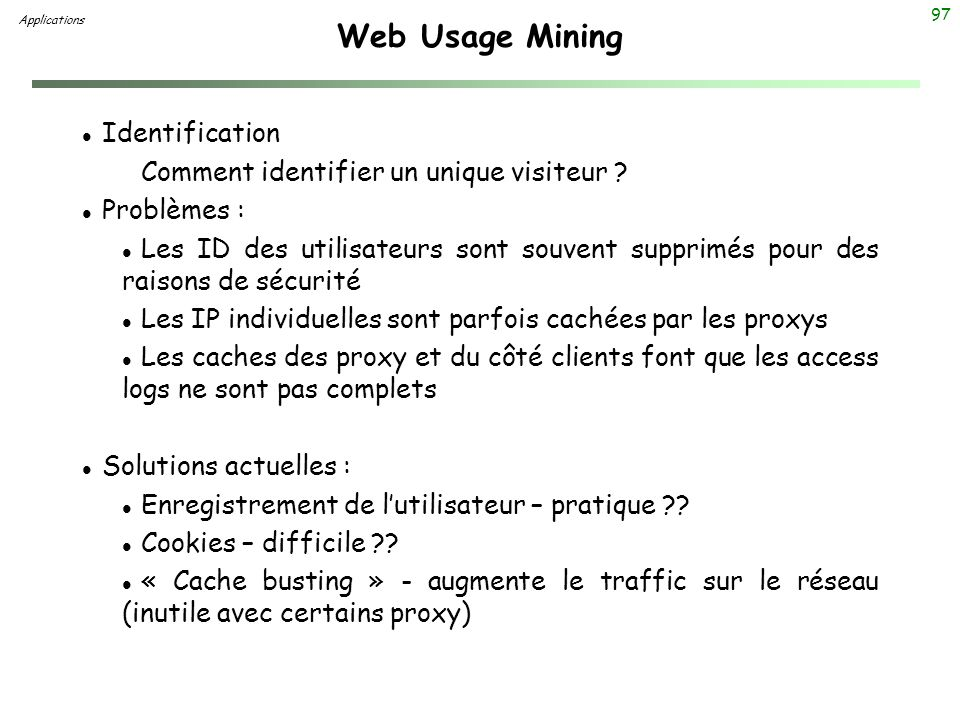 Web Usage Mining Identification