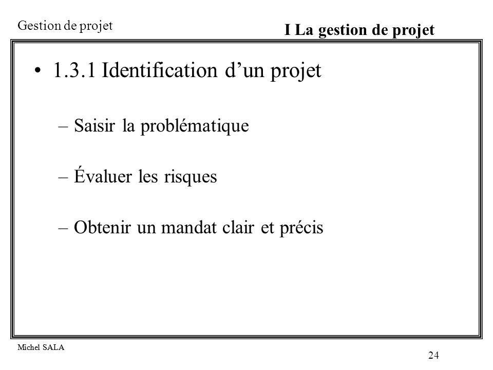 1.3.1 Identification d'un projet