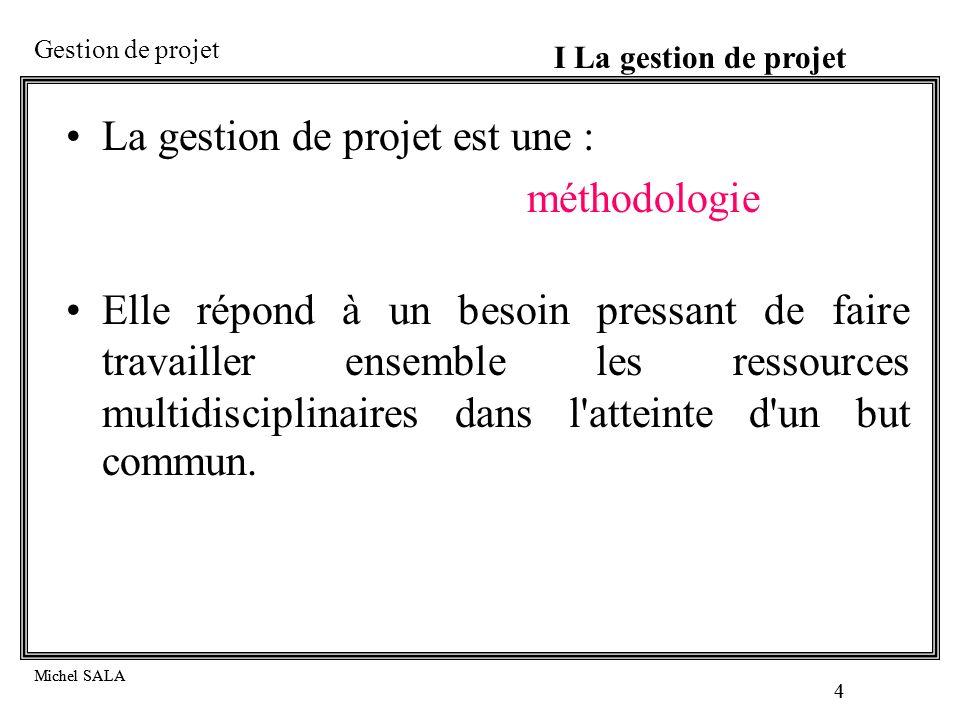 La gestion de projet est une : méthodologie