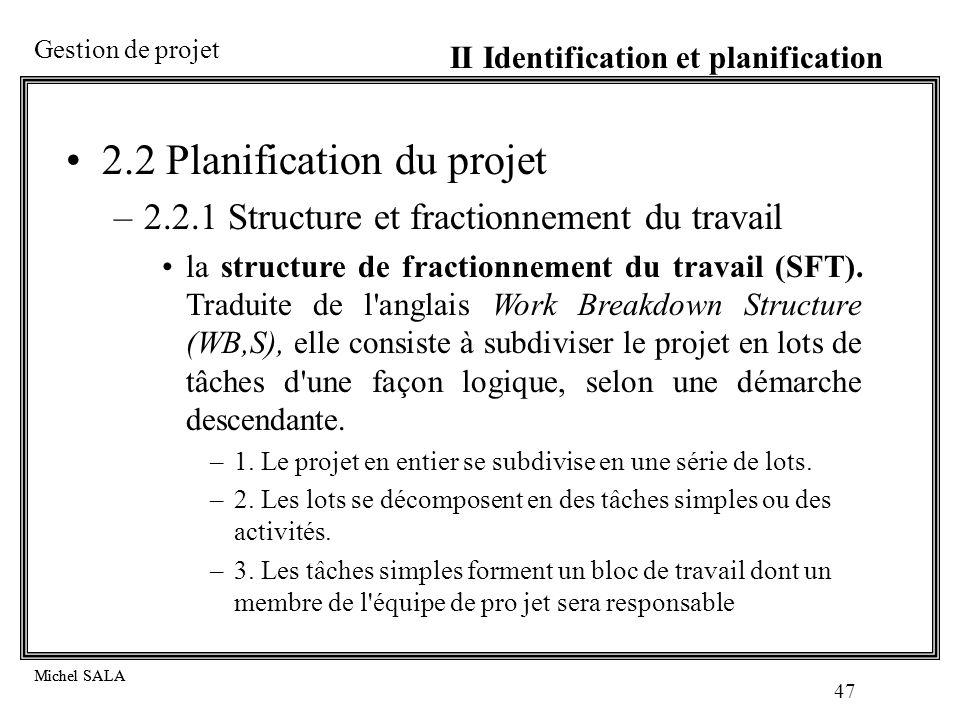 2.2 Planification du projet
