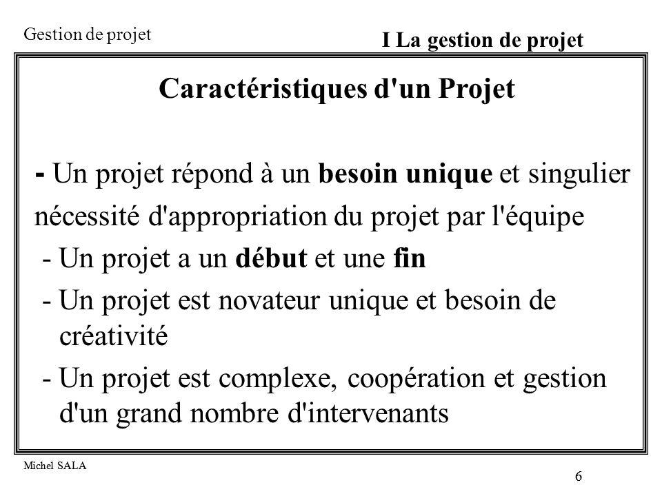 Caractéristiques d un Projet
