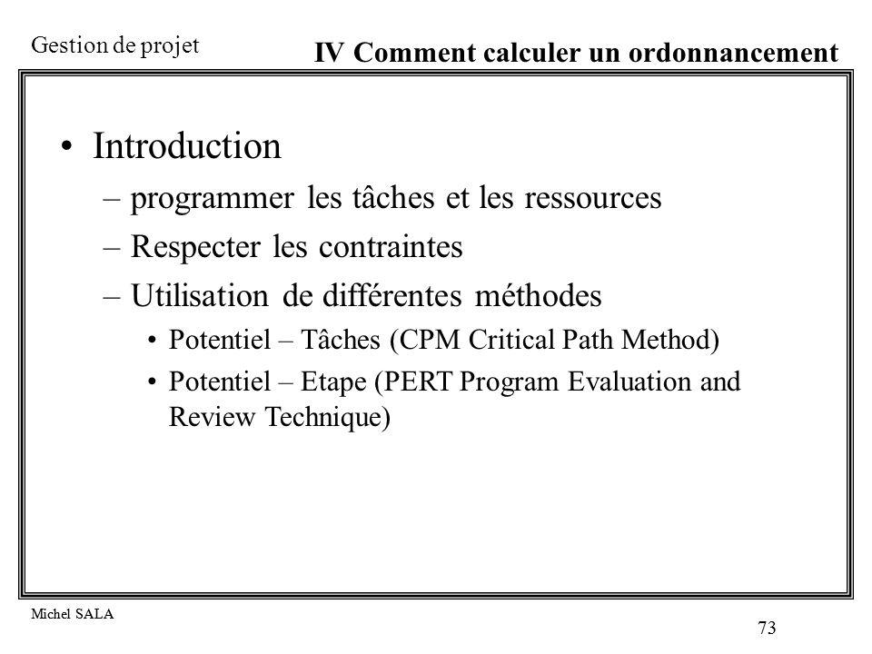 Introduction programmer les tâches et les ressources