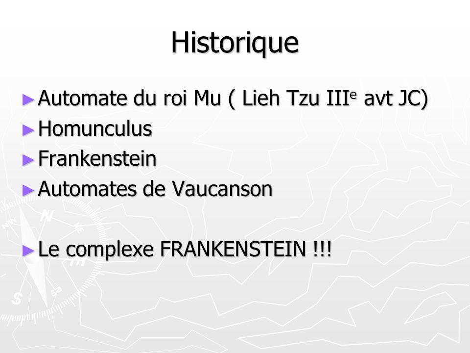Historique Automate du roi Mu ( Lieh Tzu IIIe avt JC) Homunculus