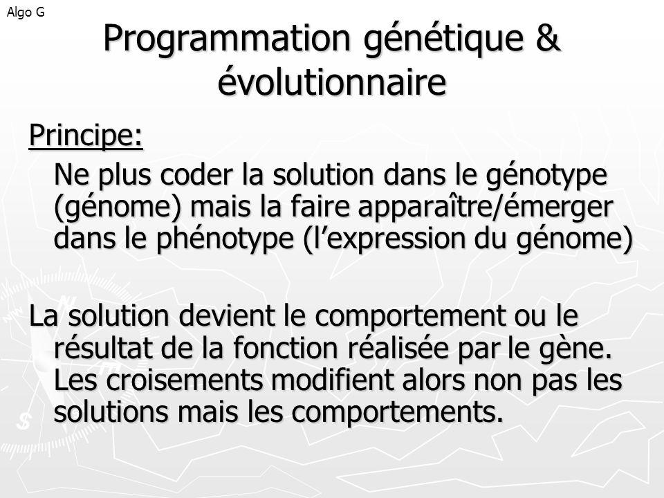 Programmation génétique & évolutionnaire