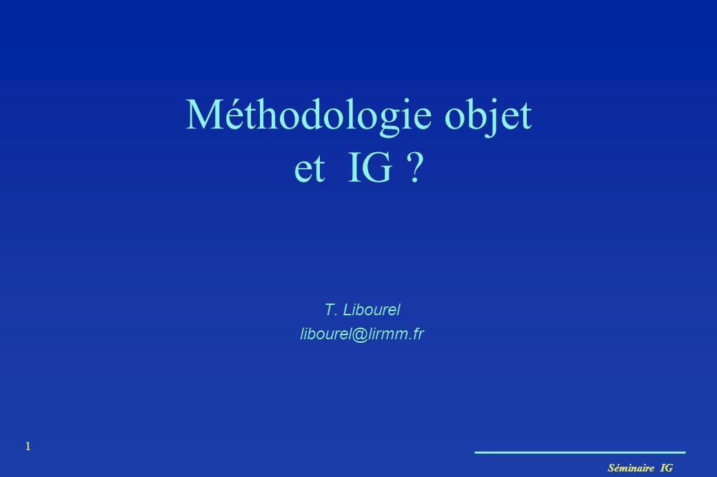 Méthodologie objet et IG