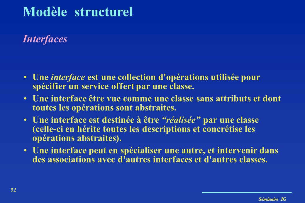 Modèle structurel Interfaces