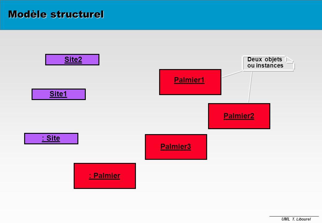 Modèle structurel Site2 Palmier1 Site1 Palmier2 : Site Palmier3