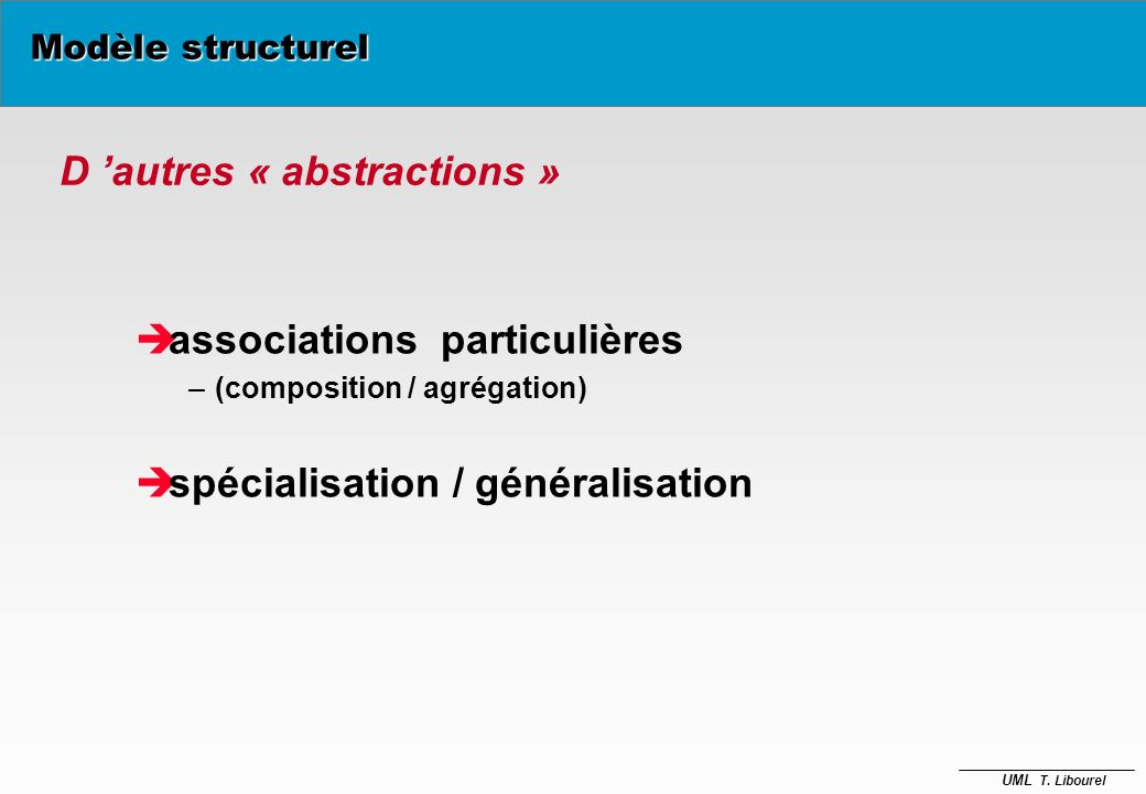 D 'autres « abstractions »