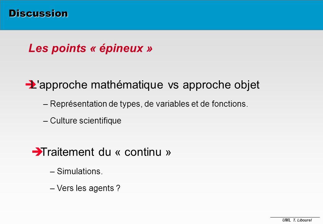 L approche mathématique vs approche objet
