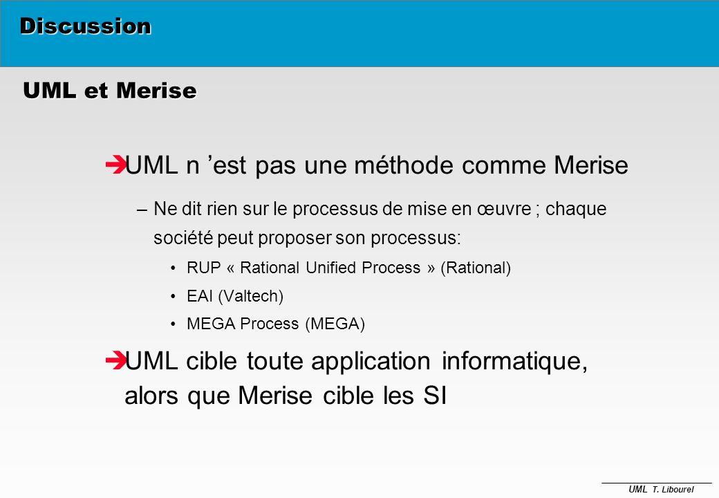 UML n 'est pas une méthode comme Merise