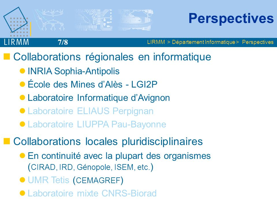 Perspectives Collaborations régionales en informatique