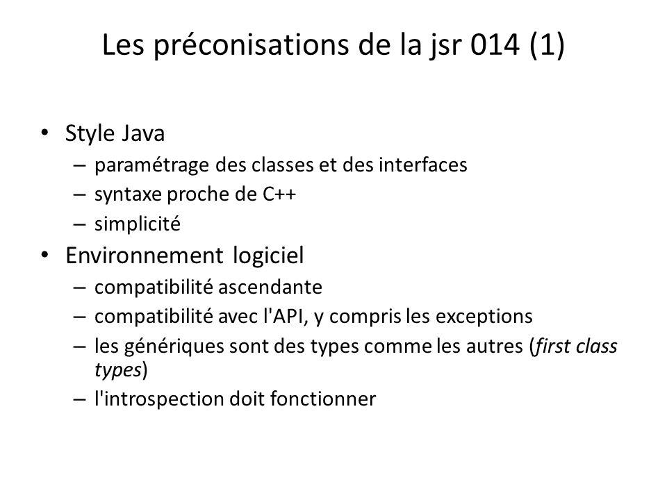 Les préconisations de la jsr 014 (1)