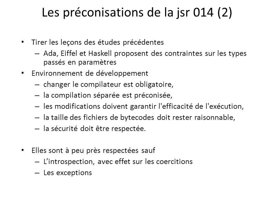 Les préconisations de la jsr 014 (2)